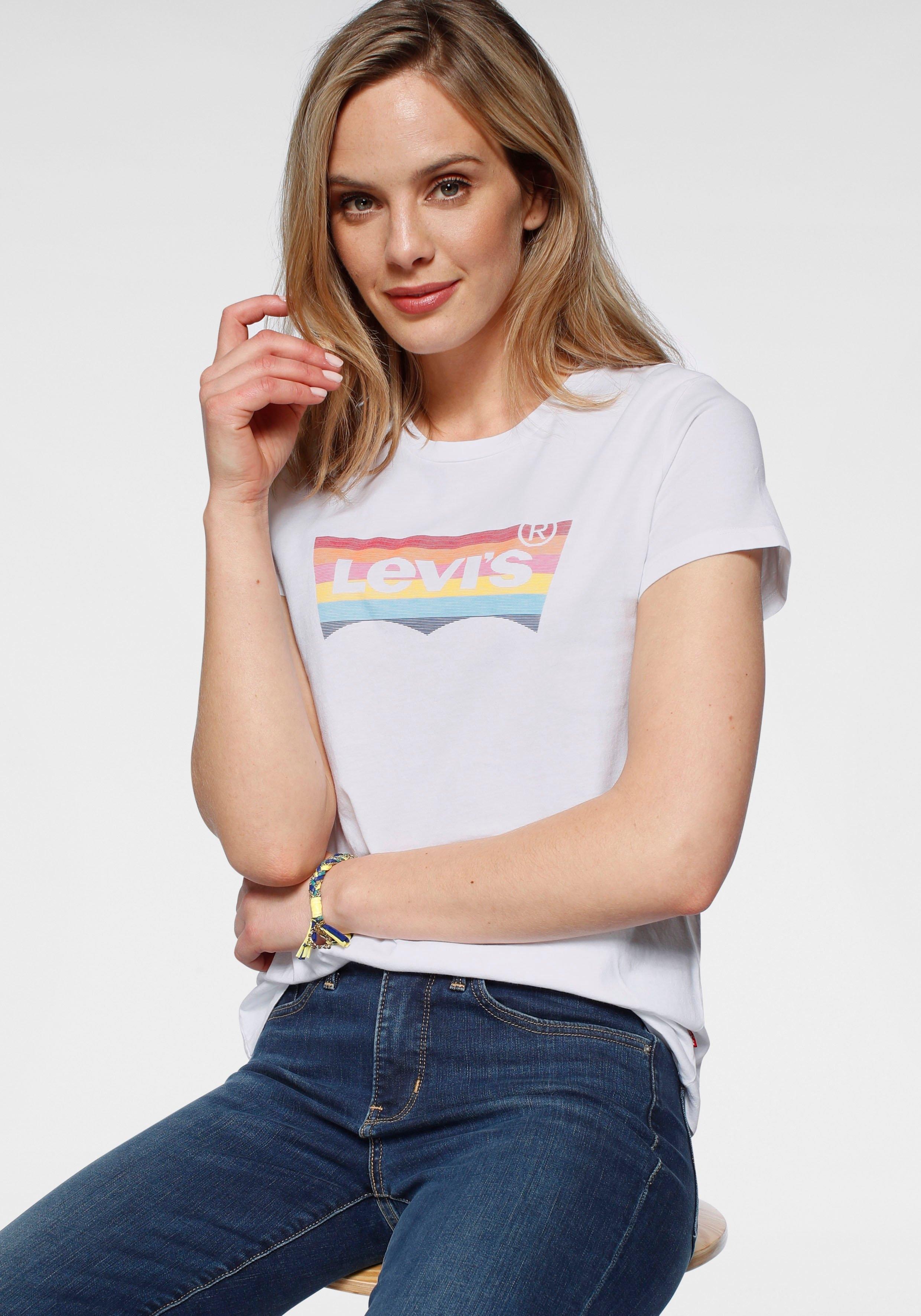Levi's T-shirt The Perfect Tee Pride Edition Print in de kleuren van de regenboog - gratis ruilen op otto.nl