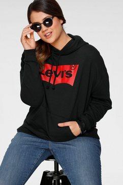 levi's plus hoodie plus graphic batwing hoodie grote logoprint zwart
