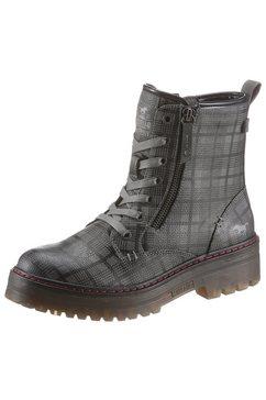 mustang shoes hoge veterschoenen grijs