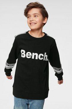bench. sweatshirt met kleurinzetten zwart