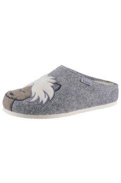 tofee pantoffels met grappig alpaca-motief grijs