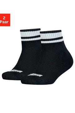 puma korte sokken clyde junior met gestreepte boorden (2 paar) zwart