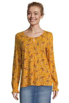 tom tailor shirtblouse met prachtige, romantische bloemenprint all-over geel