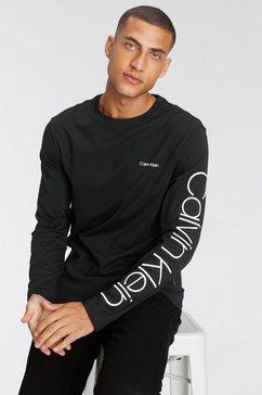 calvin klein shirt met lange mouwen logo zwart