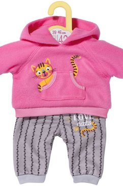 zapf creation poppenkleding dolly moda sport-outfit pink, 43 cm roze