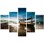 conni oberkircher´s wanddecoratie »fishing boat« groen