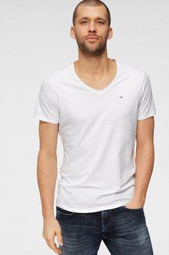 tommy jeans t-shirt »tjm slim jaspe v neck«