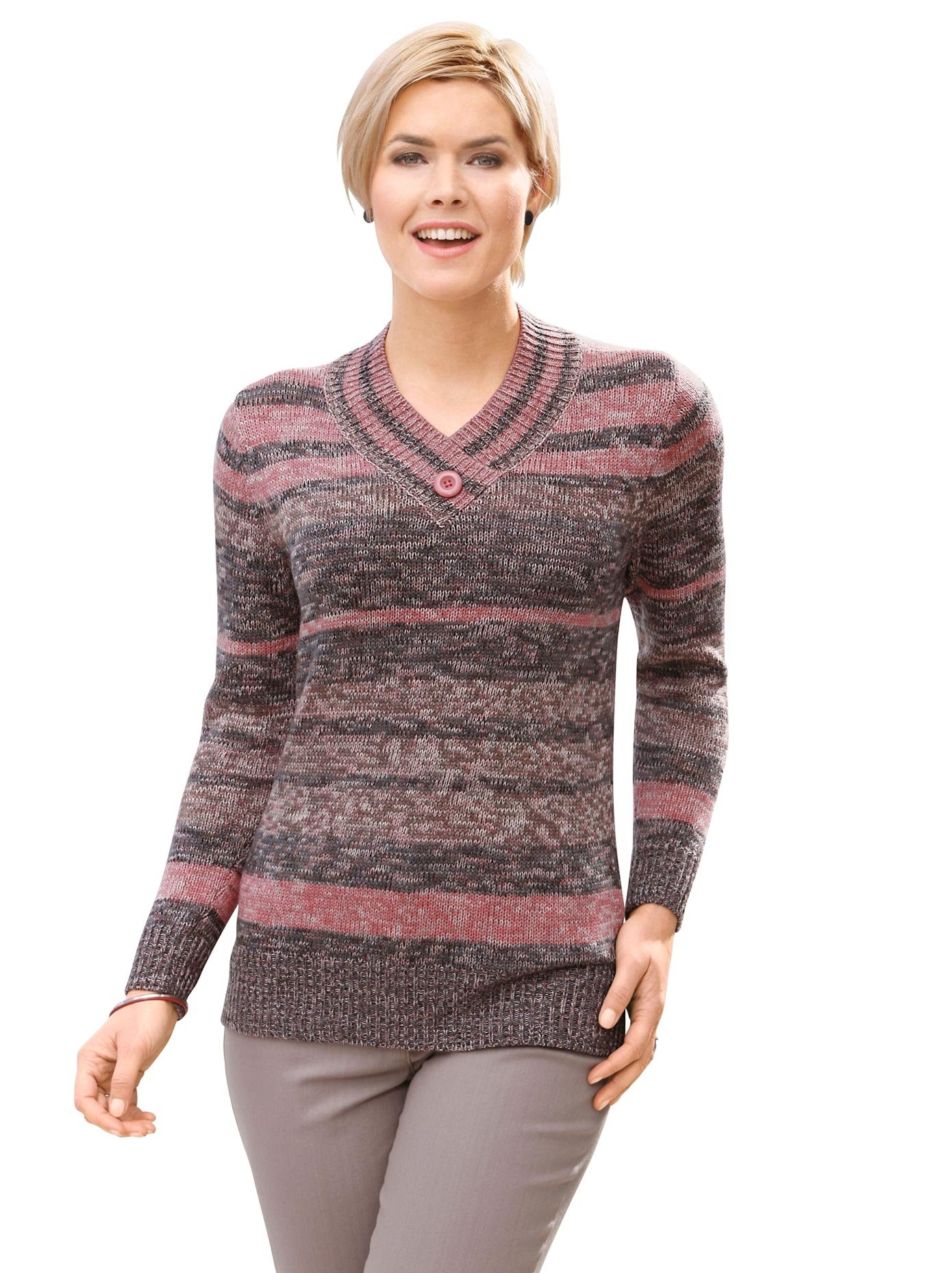 Casual Looks trui met streepdessin - verschillende betaalmethodes