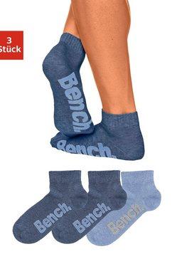 bench. korte sokken met comfortabele ribboorden (3 paar) multicolor