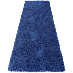 home affaire hoogpolige loper viva geweven blauw