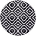 my home vloerkleed ronda sisal-look, tweezijdig te gebruiken kleed, geschikt voor binnen en buiten, woonkamer zwart