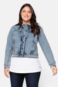 sheego jeansjack blauw