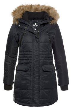 alpenblitz gewatteerde jas »schneeglanz« zwart