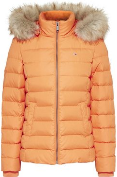 tommy jeans donsjack »tjw basic hooded down jacket« oranje