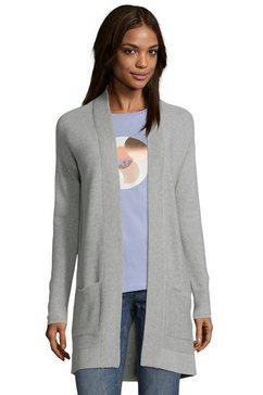 tom tailor vest zonder sluiting en met opgestikte zakken grijs
