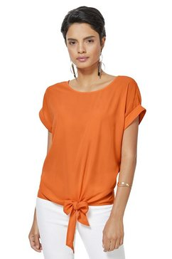 creation l blouse om te knopen of te strikken oranje