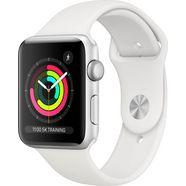 apple series 3 gps, aluminiumkast met sportarmband 42 mm watch (watchos 5) zilver