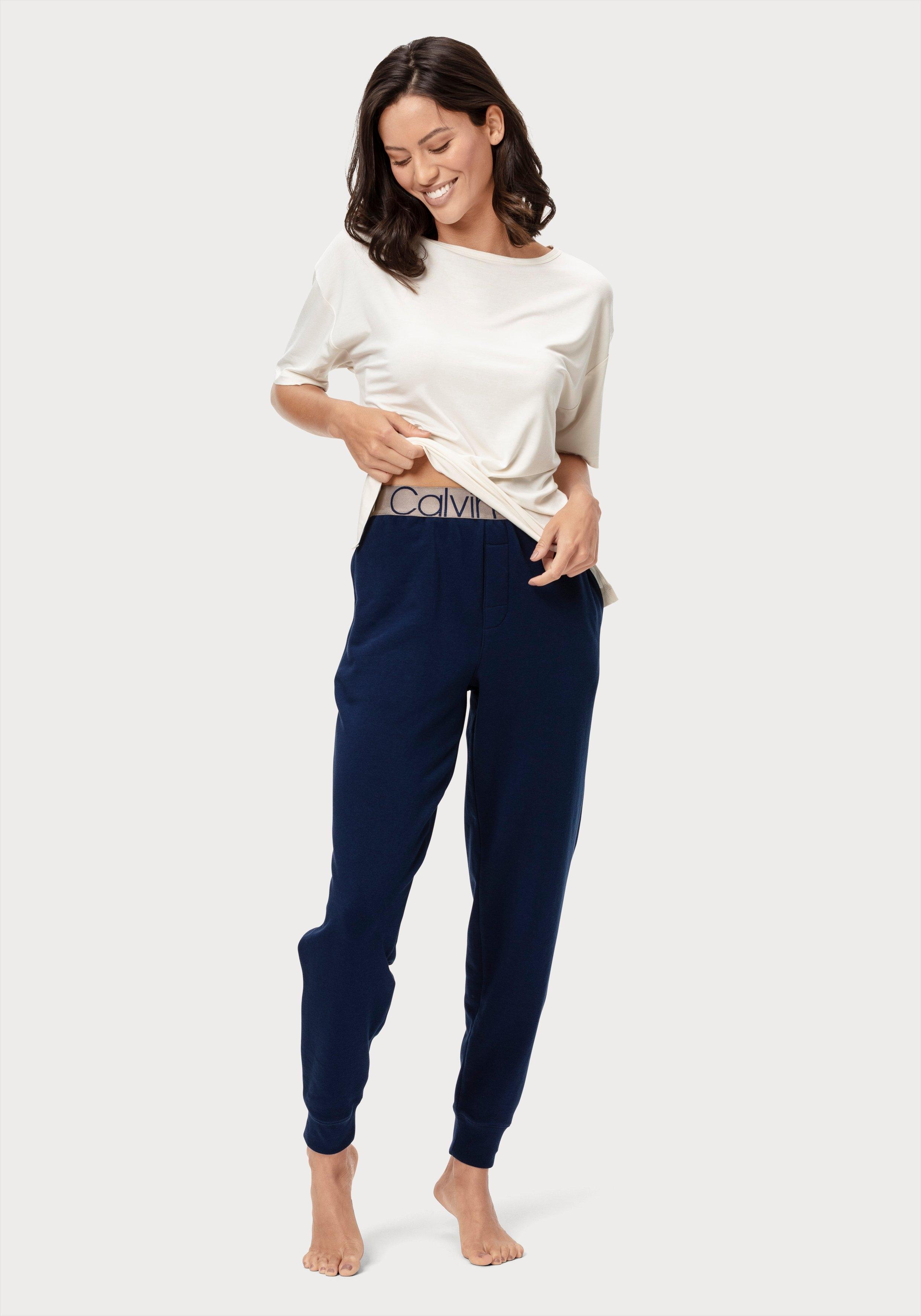 Calvin Klein relaxbroek met steekzakken opzij en ingeweven logo in de band bij OTTO online kopen