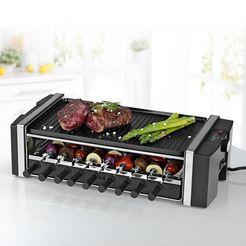 maxxmee »multi-raclette-grill 3in1 1200w« raclette zwart