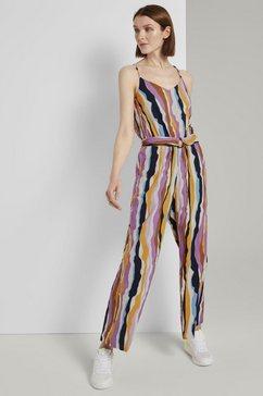 tom tailor denim jumpsuit »bunter jumpsuit mit streifenmuster« multicolor