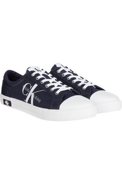 calvin klein sneakers met logo-versieringen blauw