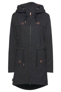 alife and kickin outdoorjack lotteak stijlvol gedessineerd softshell-jack met capuchon  klepzakken grijs