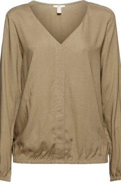 edc by esprit shirtblouse met elastische zoom en mouwboorden groen