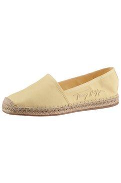 tommy hilfiger espadrilles th signature espadrille in smalle schoenwijdte, met logo-opschrift opzij geel