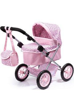 bayer poppenwagen trendy, rosa-leopard roze