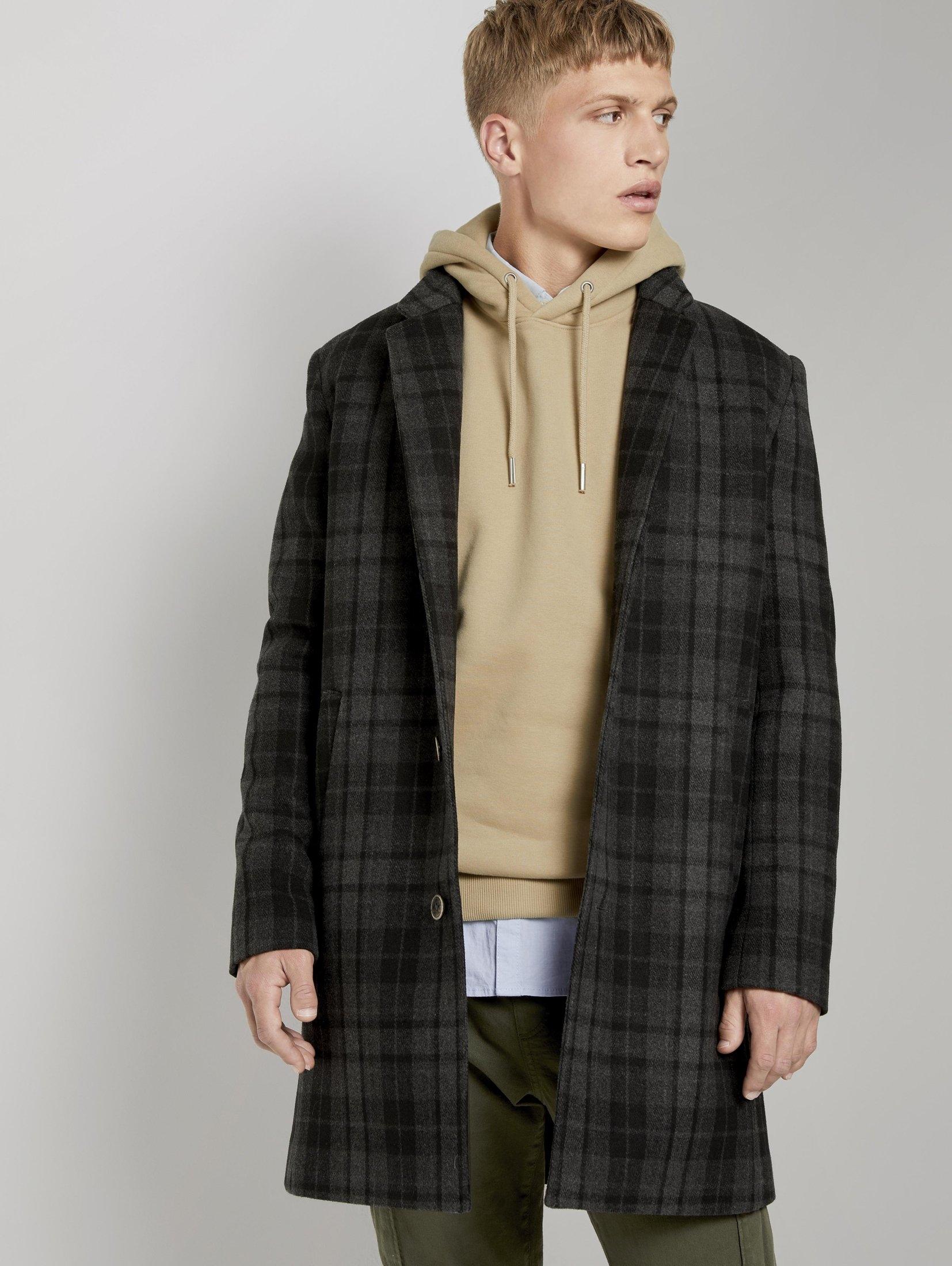 TOM TAILOR Denim lange jas »Moderner Mantel aus Wollgemisch« bij OTTO online kopen