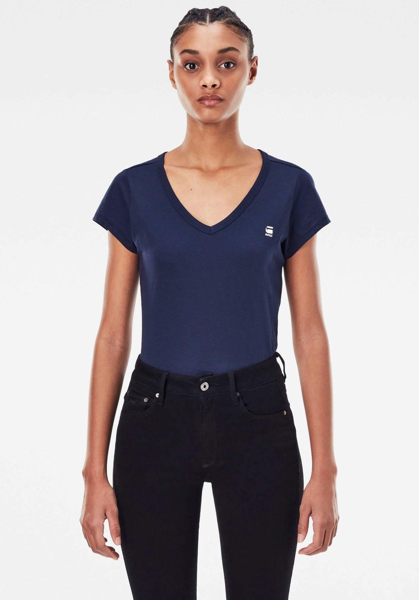 G-Star RAW T-shirt Eyben Slim Top met kleine logo-frontprint bestellen: 30 dagen bedenktijd