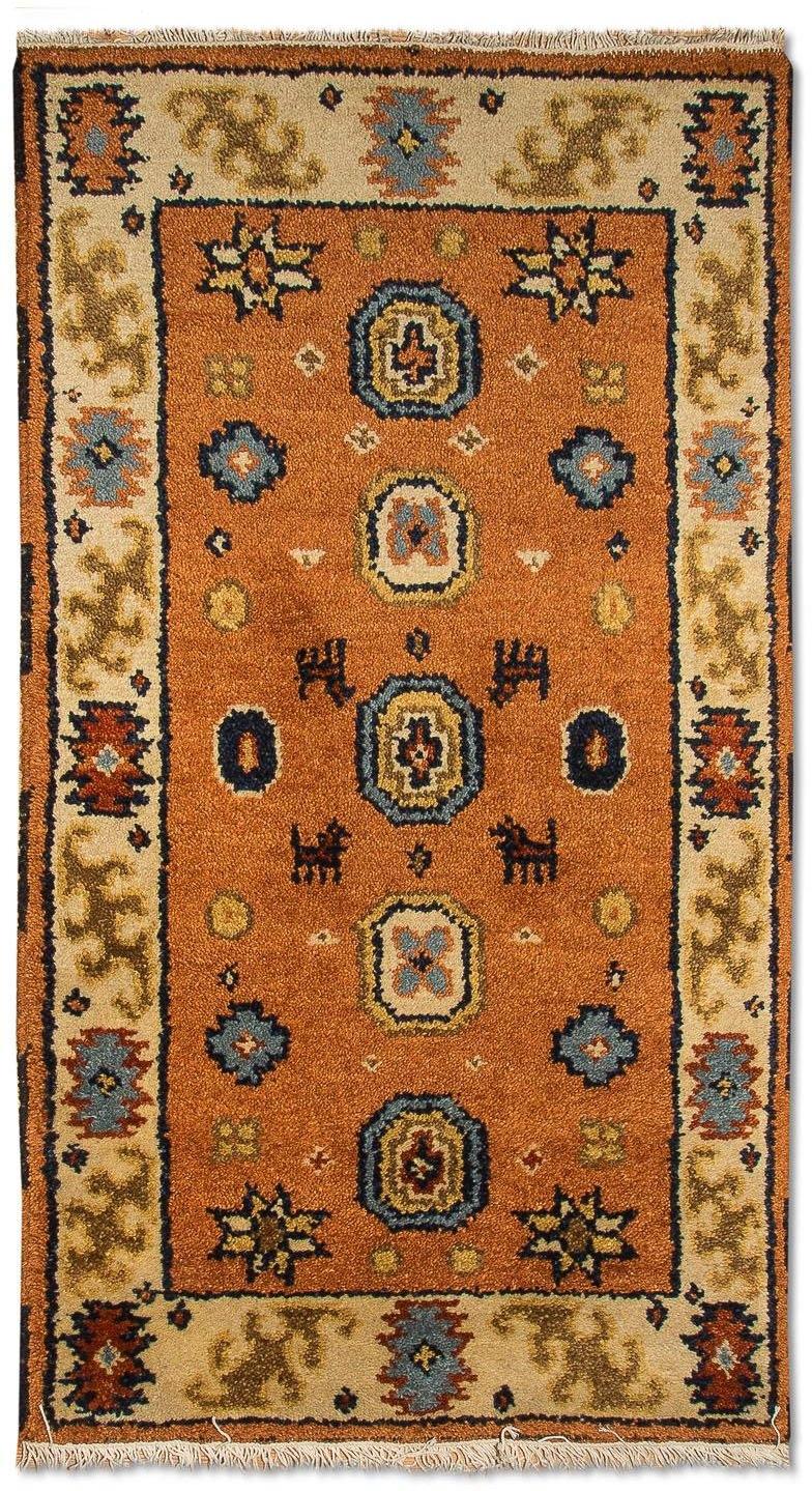 morgenland wollen kleed Kazak Teppich handgeknüpft orange in de webshop van OTTO kopen