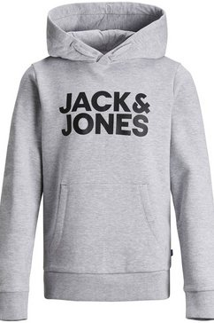 jack  jones junior hoodie »jjecorp logo sweat hood« grijs