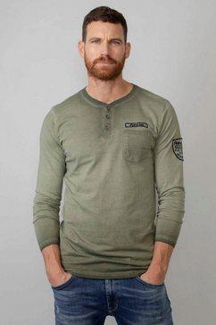 petrol industries shirt met lange mouwen groen