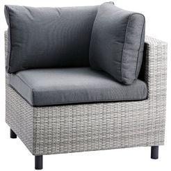 best loungestoel hoekdeel bonaire hoekdeel, kunststof-aluminium, incl. kussens (1 stuk) grijs