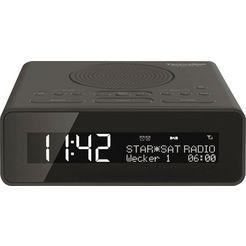 technisat wekkerradio digitradio 51 met dab+, sluimerfunctie, dimbare display, sleeptimer zwart
