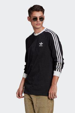 adidas originals shirt met lange mouwen »3-stripes longsleeve tee« zwart