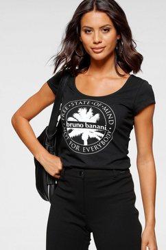 bruno banani shirt met korte mouwen gedessineerd designer-shirt van bruno banani zwart