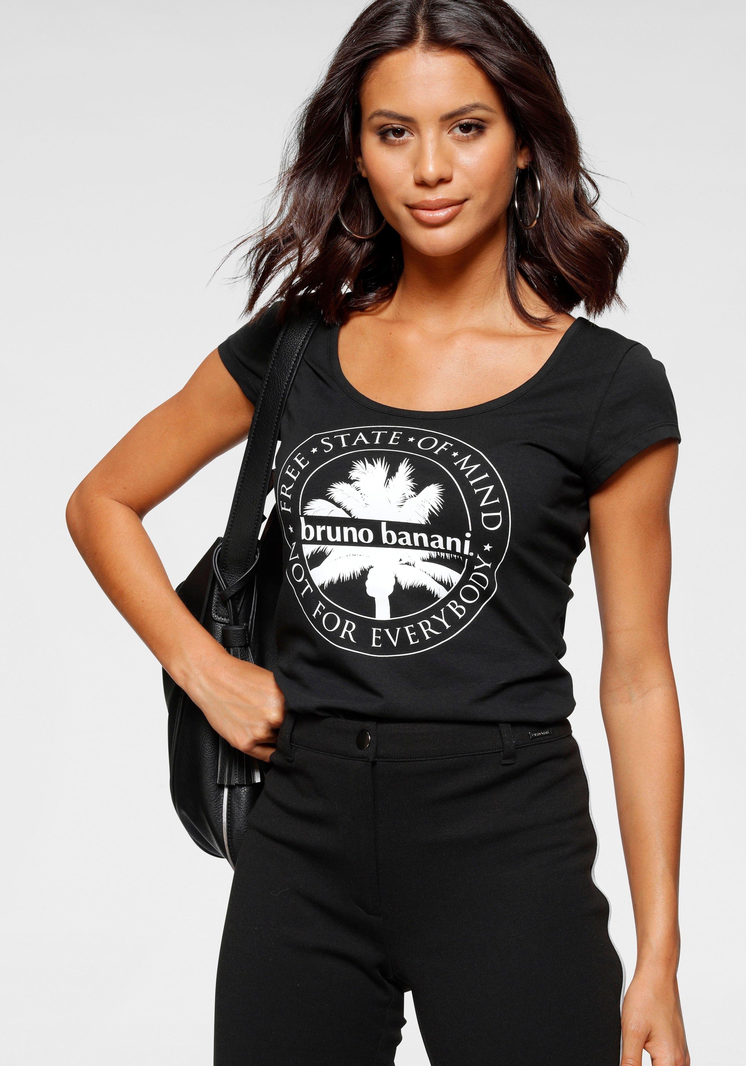 Bruno Banani shirt met korte mouwen Gedessineerd designer-shirt van Bruno Banani bij OTTO online kopen