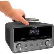 technisat internetradio digitradio 584 stereo cd, bluetooth, kleurendisplay, usb, wireless charging, alexa-spraakbesturing zwart