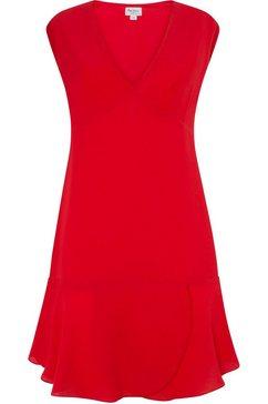 pepe jeans zomerjurk kate iets uitlopend in aangeduide wikkel-look rood