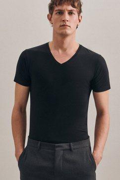 seidensticker t-shirt »schwarze rose« zwart