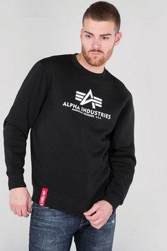alpha industries sweatshirt basic sweater zwart