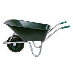 sz metall kruiwagen 100 liter, 150 kg groen