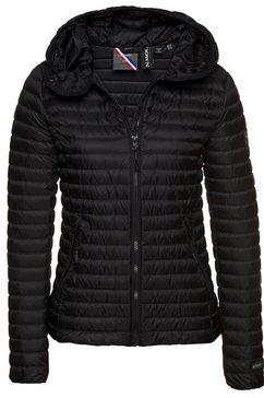 superdry licht donsjack core down premium-donsjack met elegante, sportieve stiksels zwart