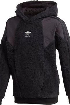 adidas originals capuchontrui »teddy hoodie« zwart