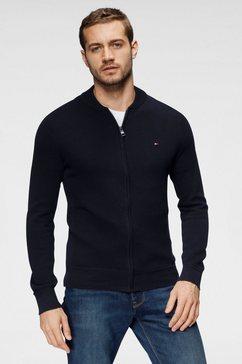 tommy hilfiger vest ricecorn baseball zip through blauw