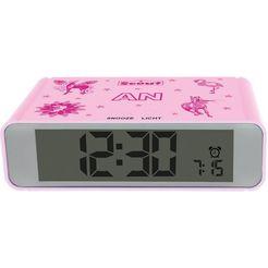 scout kwarts-wekker digi clock, 280001025 roze