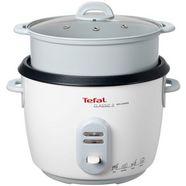 tefal rijstkoker rk1011 max. 10 kopjes (5l); automatische warmhoudfunctie; inclusief stoommand wit