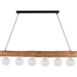 spot light hanglamp trabo simple hanglamp, houten balk van massief grenenhout oe 8-12 cm, bijpassende lm e27-exclusief, made in europe bruin
